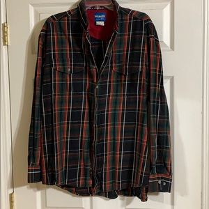 Men's Wrangler long sleeve dress shirt